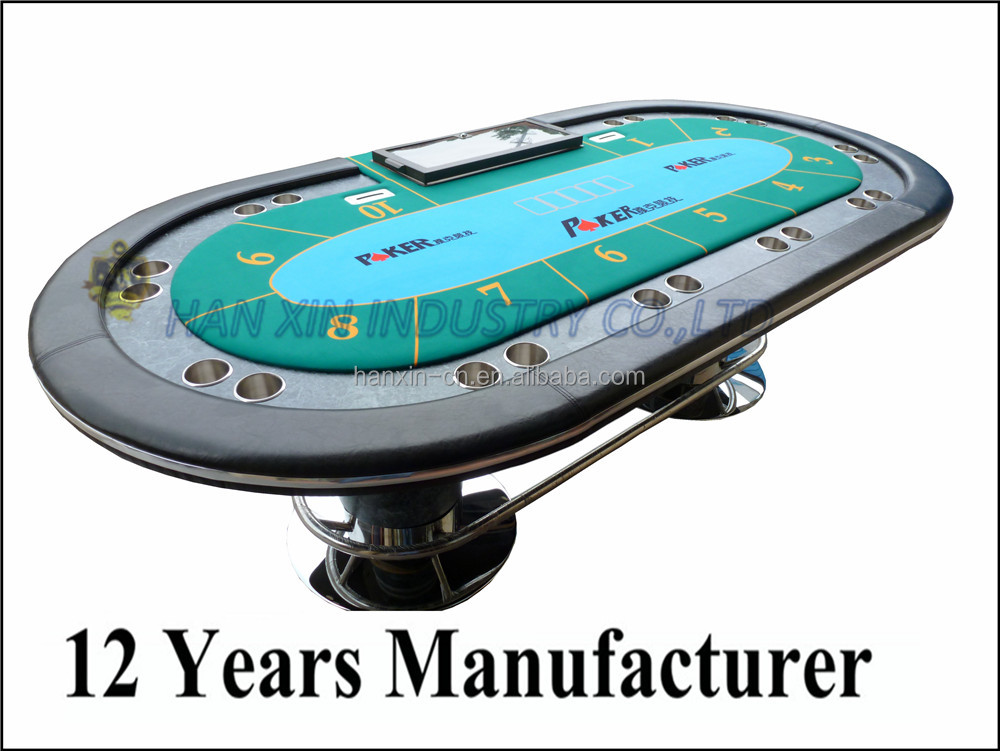 Wholesale casino furniture 10 person RFID poker table