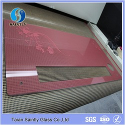 Tempered painted glass for electrical panel heater