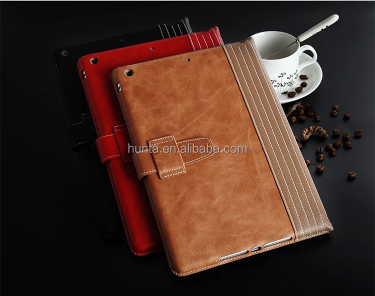 genuine top layer leather tablet case for ipad air 2