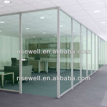 commercial clear glass office partition wall