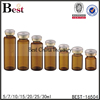 10ml 15ml 20ml 30ml brown glass vial butyl rubber stopper crimp cap
