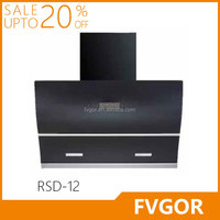 RSD-12 FVGOR Canton Fair Easy cleaning 90cm black and white glass chinese cooking range hood