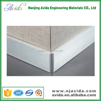 different wall finishes use skirting board