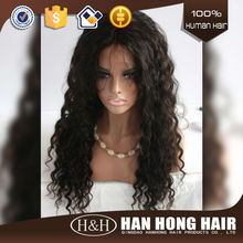 Hot 2015 Afro Kinky Full Lace Human Hair Wigs For Black Men