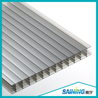 opal 16mm polycarbonate four wall hollow sheet/policarbonato alveolar sheets