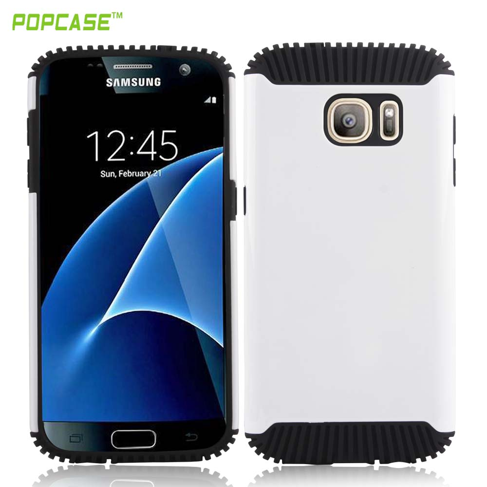 2016 Newest hot selling high quality PC+TPU anti-fall mobile case for Samsung S7