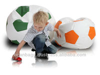 football soccer beanbag sofa chair ,red and white