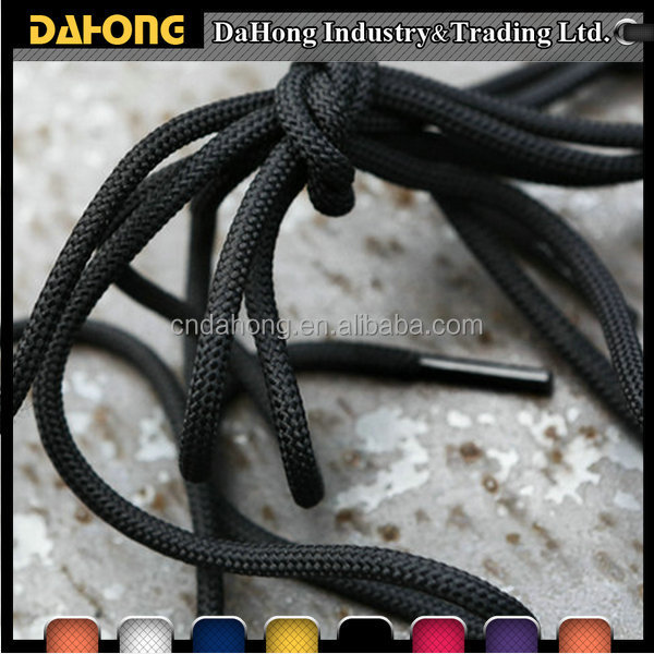 colorful athletic round shoe lace manufacturing