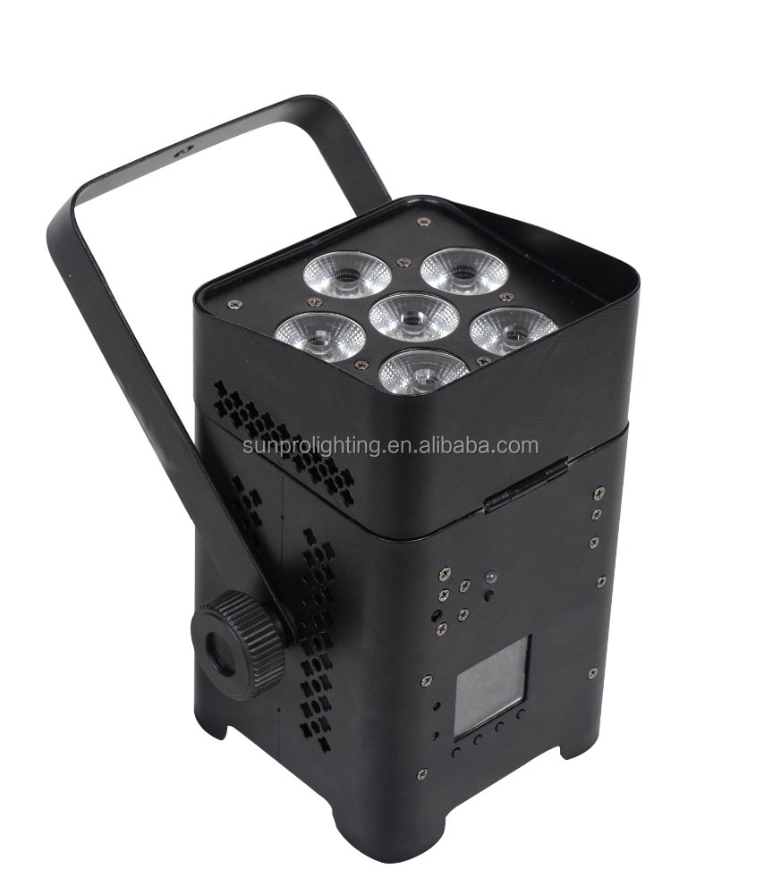 LIGHT FOR STAGE DECORATION BATTERY POWER LED PAR 6 IN 1 RGBWYUV 12W*6PCS