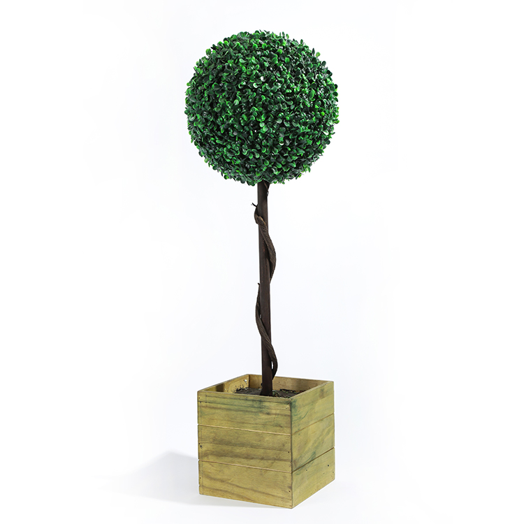 Wholesale plastic topiary plant tree artificial spiral boxwood tree