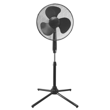 16 inch plastic electric stand fan with folding base