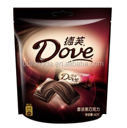 Custom printed chocolate packaging bag/stand up chocolate bag