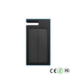 12000mAh Solar Dual USB LED Camp Light Panel External Power Bank Battery Charger for Outdoors travel