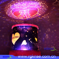 Amazing Romantic Starry Night Light Colorful LED Star Sky Projection Room Lamp