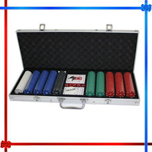 500 piece Coin Inlay Casino Poker Chip Set