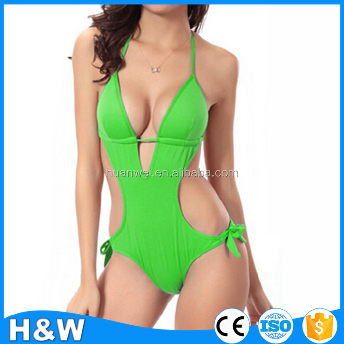 Halter sexy micro bikini one piece swimwear hot sex bikini girl