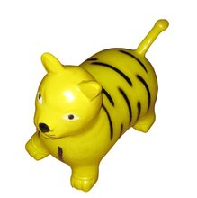 Yellow dog, Chinese factory Inflatable soft toys jumping animal horse ride for kids