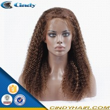 cheap glueless blonde 100% malaysian human hair kinky curly silk top full lace wigs