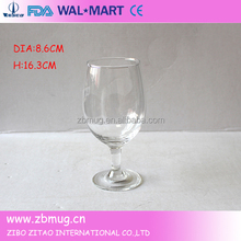 High quality clear short stem martini wine glass