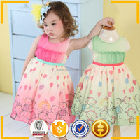 little queen flower girl dress peach chiffon dress model dresses for girls