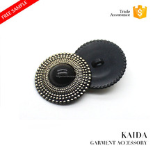KAIDA popular big size 88L pearl and gold ABS combination shank sewing button for coat