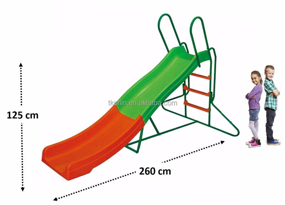 CE kids playground plastic metal slides material for sale