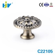 Guangdong hardware factory vintage antique brass dresser knobs