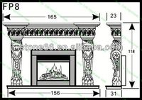 hand carved wooden fireplace mantel