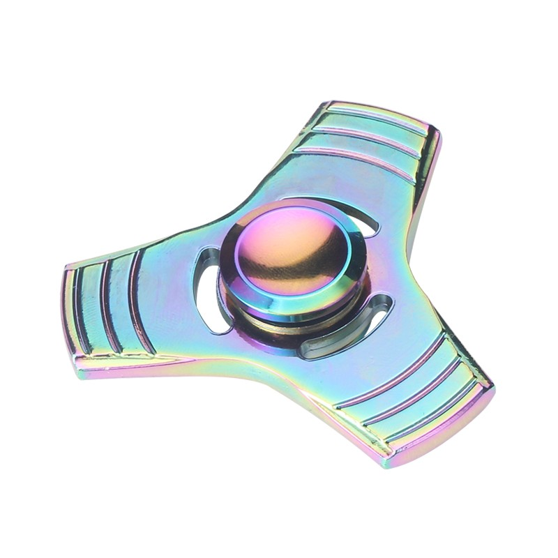 Three-leaf Fashion Designed Gradient Color Zinc Alloy Finger Fidget Spinner