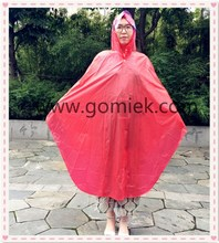 2017-Eco-friendly rain poncho /Especially for bicycle colorful raincoat