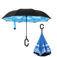 Reversed Umbrella Inside Out , Inverted Umbrella Upside Down Double Layer for Children