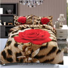 100% polyester big rose design printed & dyed fabric 210cm width 80gsm