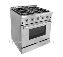 Hyxion high end professional gas cooking range/ free standing gas cooker range with oven