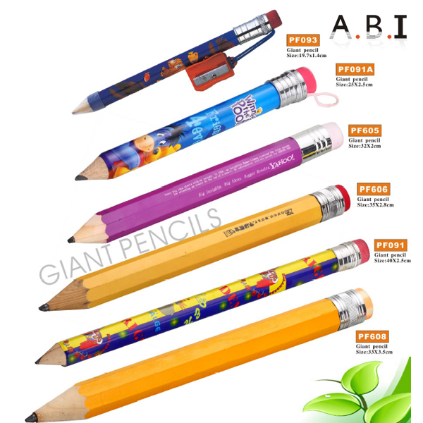 Promotional Super Jumbo & Mini Shrink Pencil With Eraser