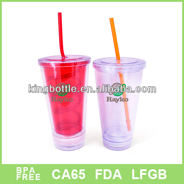 2015 hot sell shaker LED design light up bright tumbler with straw
