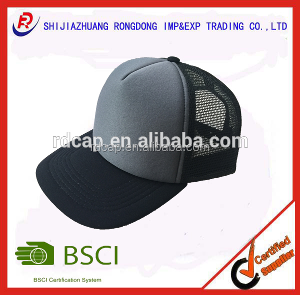 Custom high quality blank most popular fashion promotional factory cheap foam mesh cap trucker cap