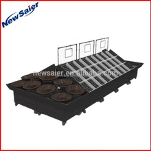 sanitation and high quality fruit and vegetable shelf supermarket display rack