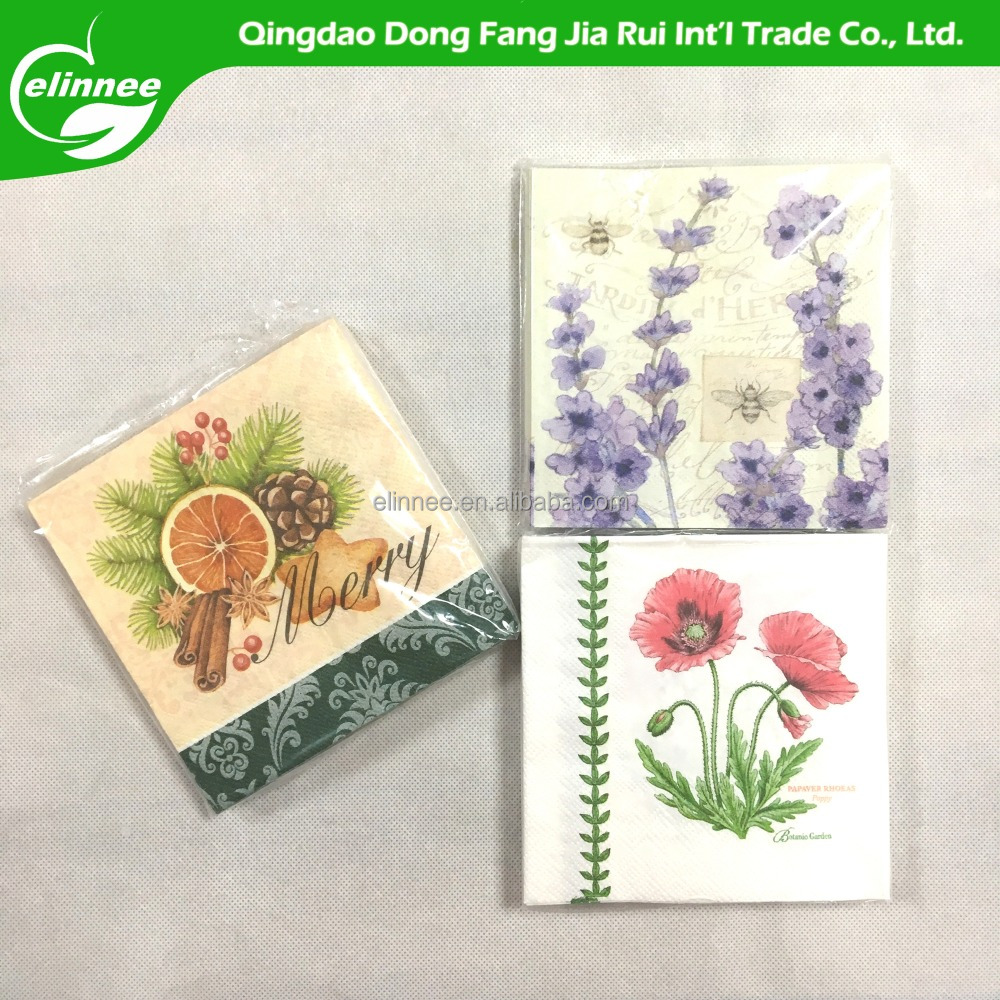 Factory OEM tissue/folding custom printed napkins
