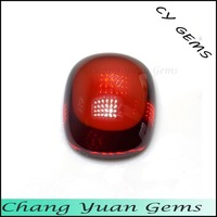 Cushion cabochon cut garnet color imitation cz gems