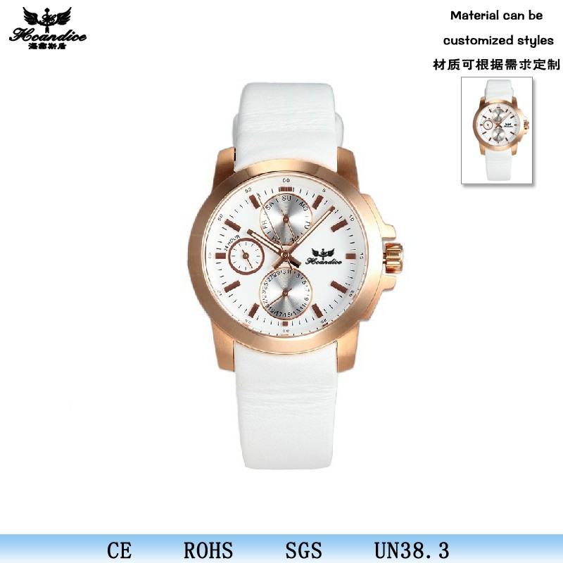 Assorted colors accept PayPal custom ladies leather strap small moq order watch