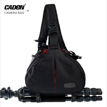 Free shipping !!! Caden Sling Shoulder Cross Camera Bags Video Photo Digital DSLR bag Waterproof with Rain Cover for camera