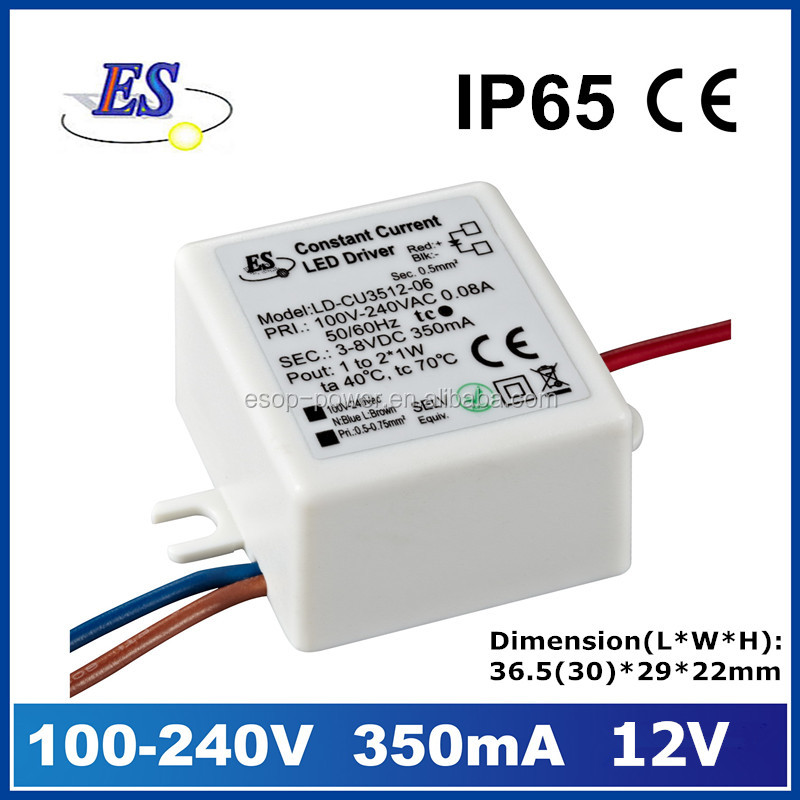 350mA 12V 3.6W ac to dc constant current small size mini LED Driver
