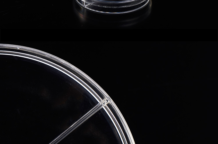 PETRI DISH 90mm, 2 compartments