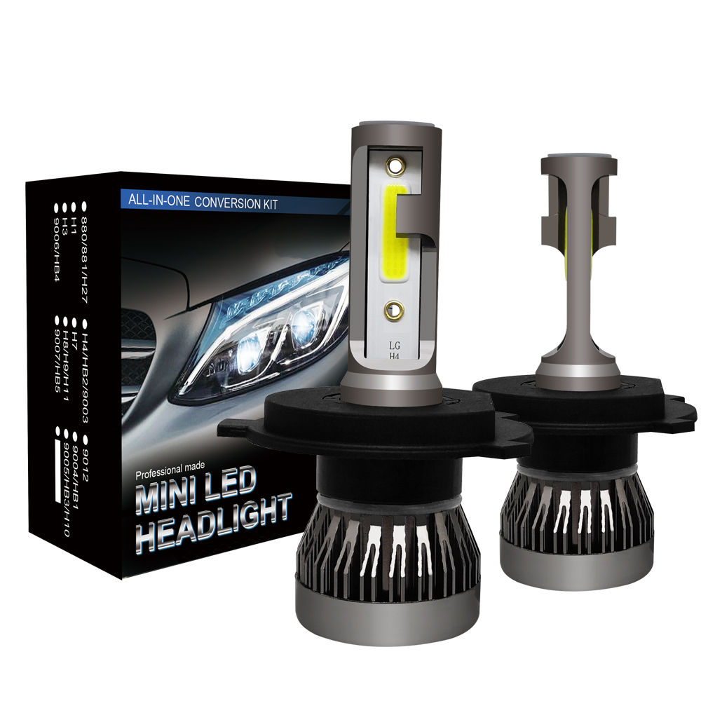 newest h4 LED <strong>Car</strong> Headlights 72W 8000LM COB Auto Headlamp Bulbs h4 h1 H11 9005 9006 H7 <strong>Car</strong> led fog head lights <strong>lamps</strong> H7 h4 H11