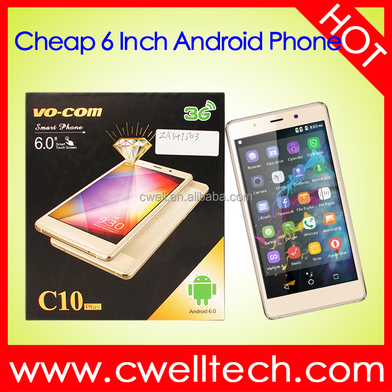 VO-COM <strong>C10</strong> Low Price Quad Core Android Big Touch Screen 6 Inch Smartphone