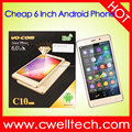 VO-COM C10 Low Price Quad Core Android Big Touch Screen 6 Inch Smartphone