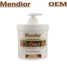 Mendior private label organic Coconut Oil Moisturizing cream ,virgin Coconut Oil for Face, Hands, Hair.