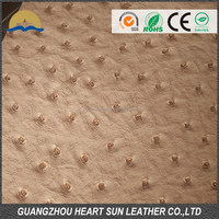 Pvc leather,PVC Ostrich skin leather for bag HB664-1