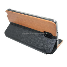 wood leather case for Samsung note 3 case, wood case for samsung galaxy note 3