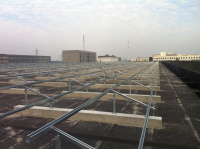 Grid-tied solar roof support system